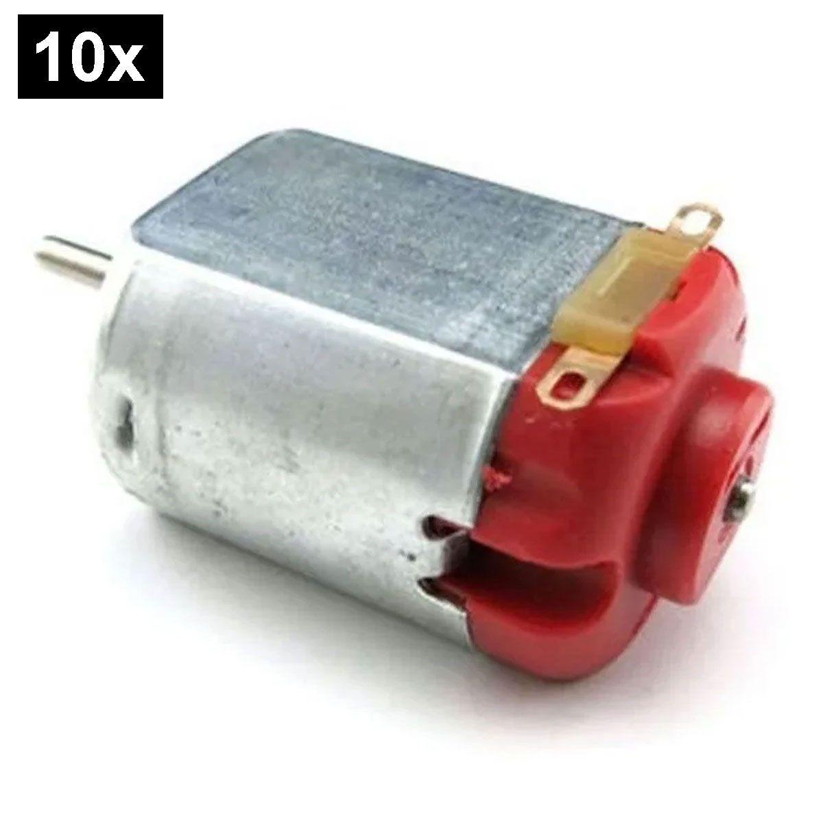 10x Mini Motor DC 3v a 6v sem Redução - Vermelho