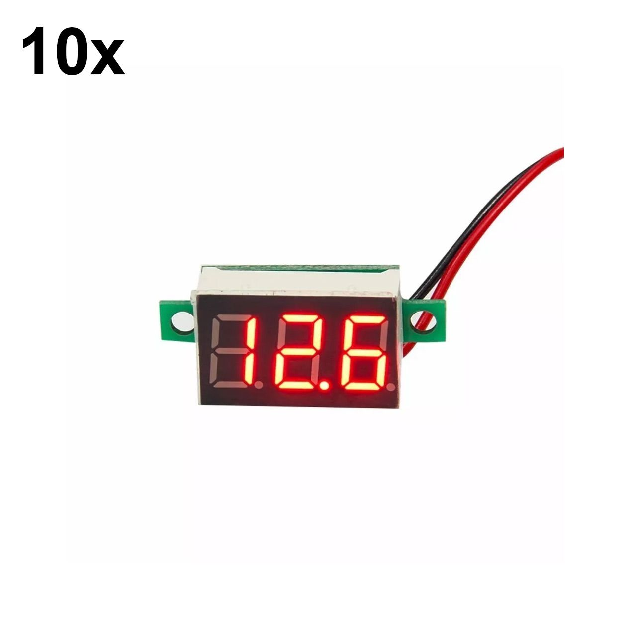 10x Mini Voltímetro Digital de 0v a 100v