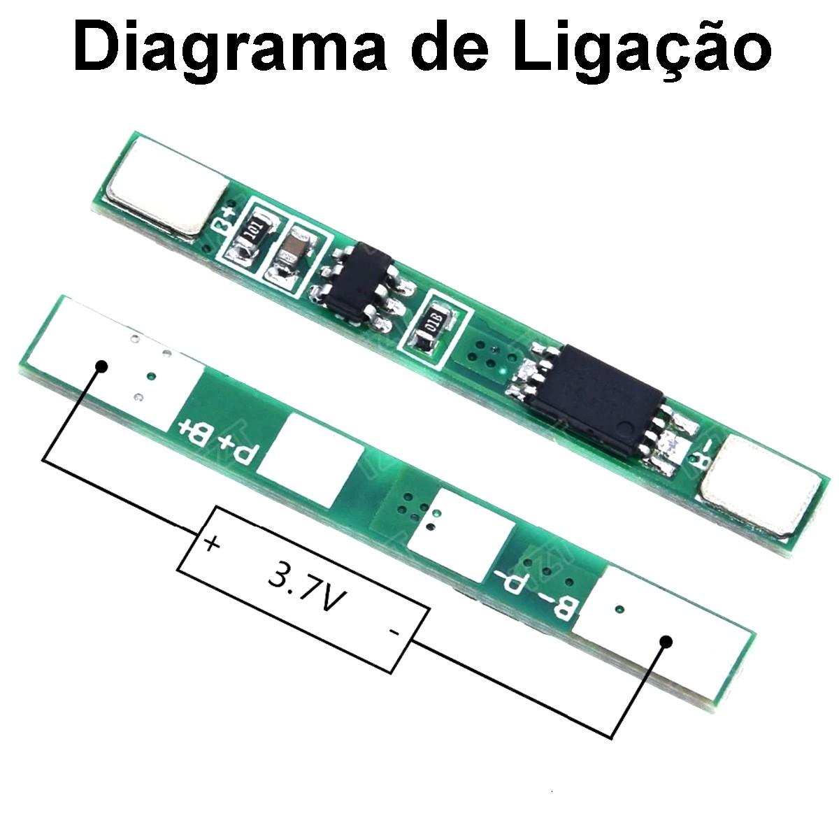 10x Módulo Placa Carregador 1s 3.7v 3a Li-ion 18650