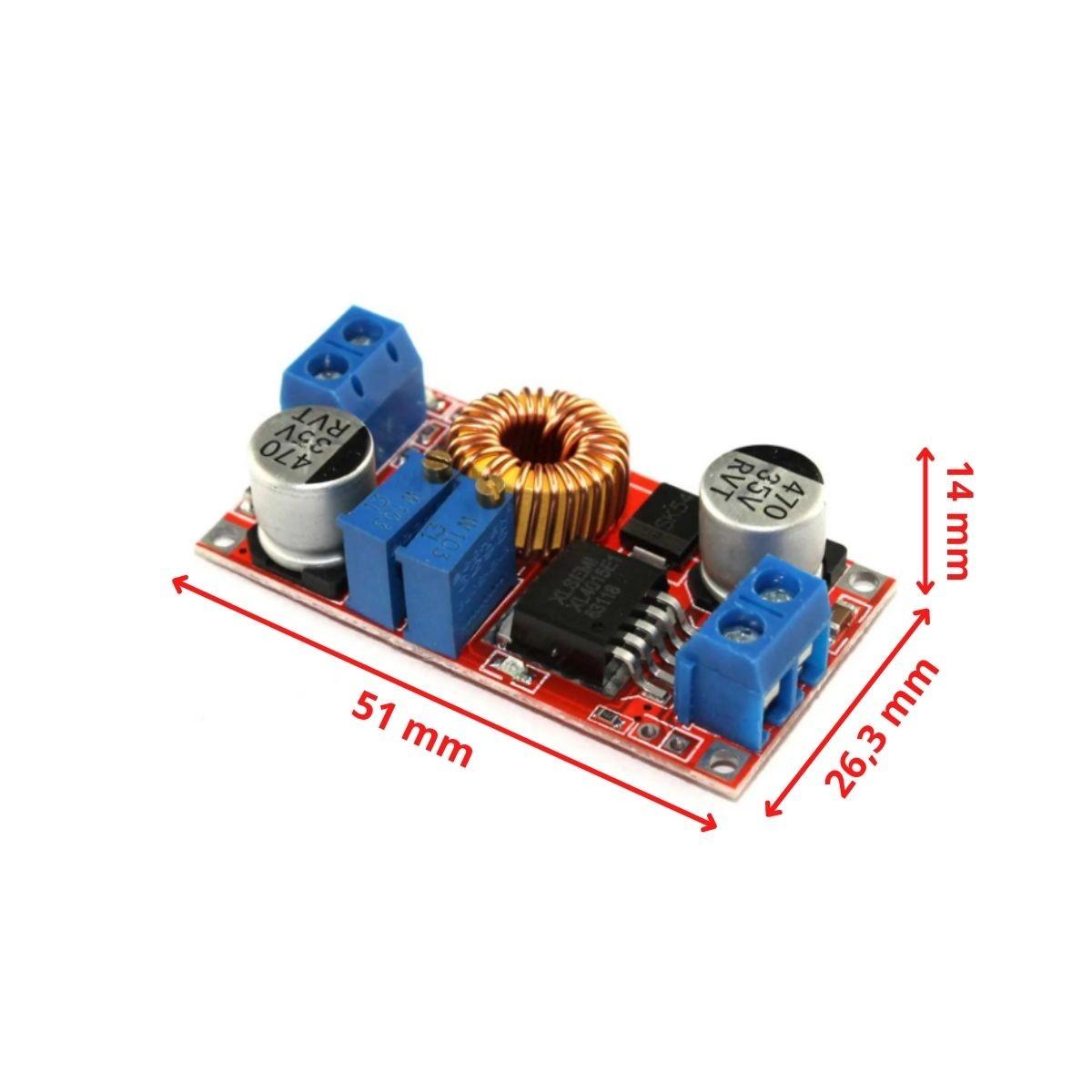 10x Regulador com Ajuste de Corrente e Tensão XL4015 5A DC DC Step Down