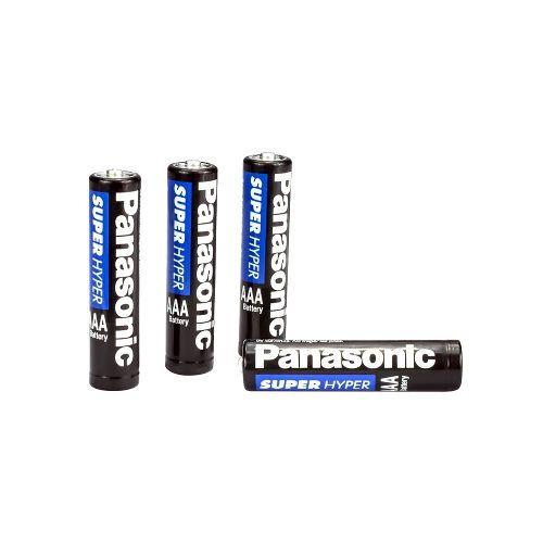 4x Pilha Panasonic AAA Palito - Super Hyper 1,5v