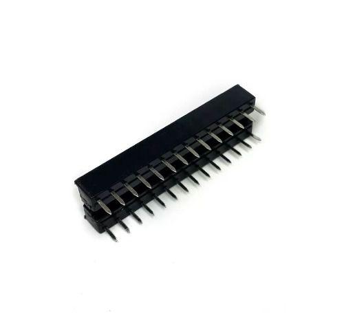 3x Soquete Estampado Slim 28 pinos Ideal para o Microcontrolador