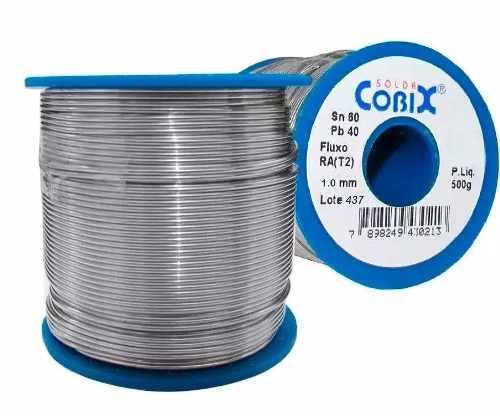 Fio de Solda / Estanho 1mm Rolo / Carretel com 500g - Cobix 60x40