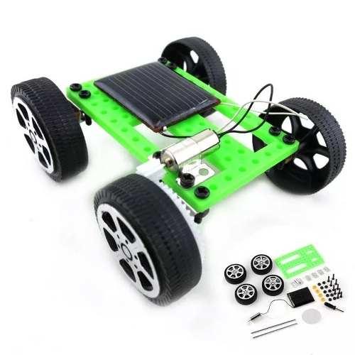Mini Carrinho com Placa Energia Solar / Kit Educacional Montagem