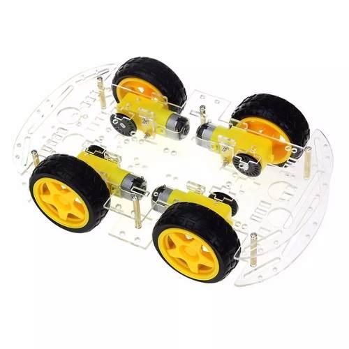 Kit Chassis de Carro com 4 Rodas