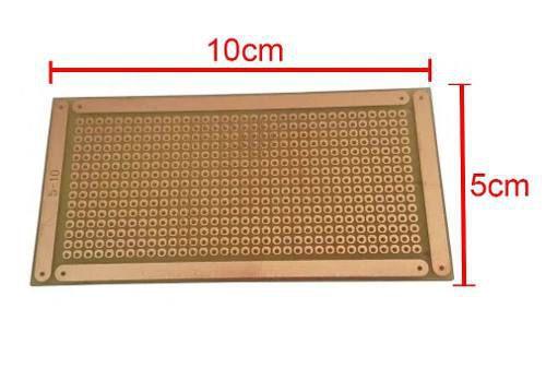 Placa Fibra Ilhada 5x10 cm Padrão PCB Perfurada
