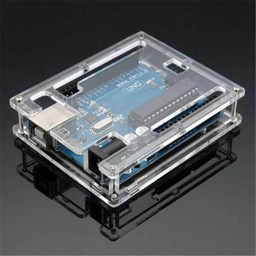 Case de Acrílico para placa Uno R3 Dip / Smd compatível com Arduino