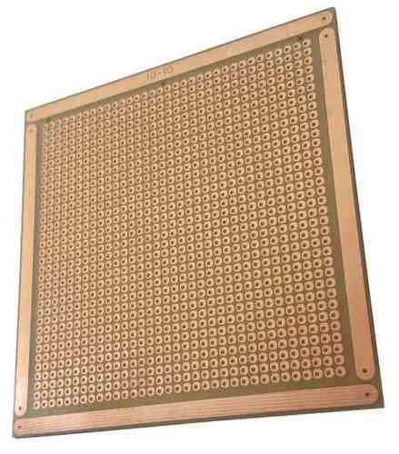 Placa Fibra Ilhada 10x10 cm Padrão PCB Perfurada