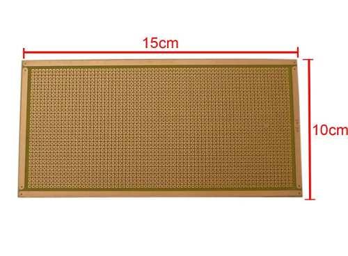 Placa Fibra Ilhada 10x15 cm Padrão PCB Perfurada
