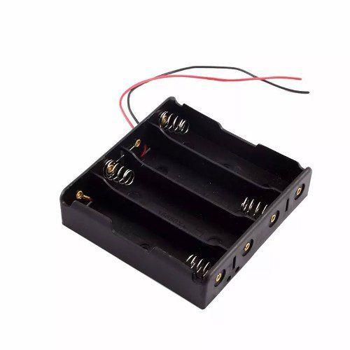 Case Suporte / Soquete para Bateria 18650 para 4 Baterias 14,8v