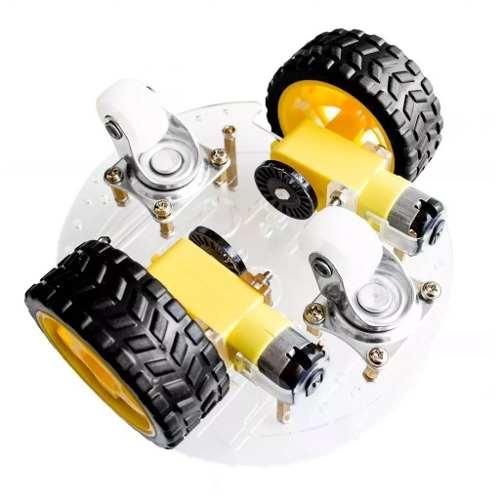 Kit Chassi Redondo 2 rodas / Robô DIY Robótica