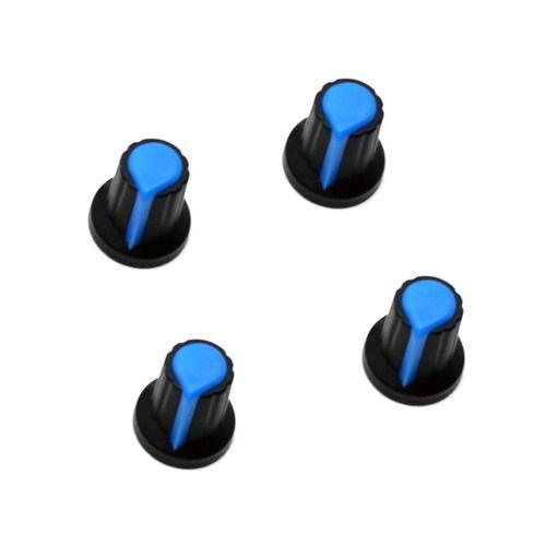 4x Knobs para Potenciômetro Estriado 6mm Botão Volume