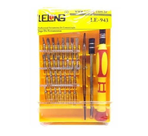 Kit Jogo Chave Precisão 32 Em 1 LE-943 Lelong Chaves Celular