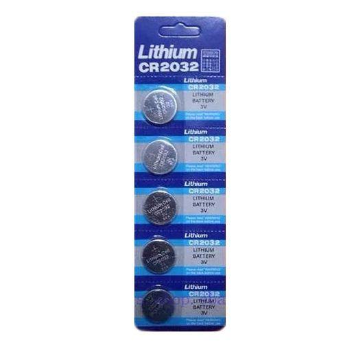 Cartela com 5 Baterias Lithium 3v Cr2032 Rtc Placa Mãe Moeda