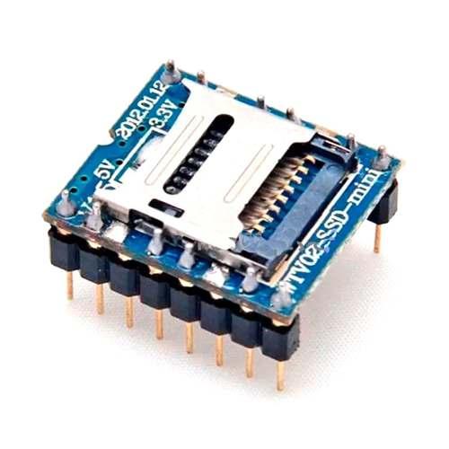 Mini SD Card MP3 Wtv020 SD 16P Audio Voz