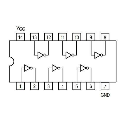 3x Porta Lógica Not - Inversora - Circuito Integrado Inversor 74LS04