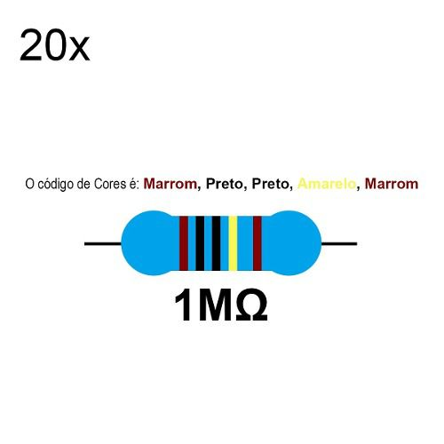 20 Resistor 1 Mega Ohm 1/4w