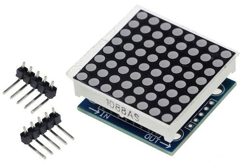 Módulo Display Slim Matriz de Led 8x8 com Max7219