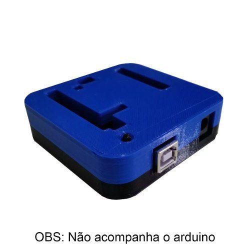 Case para Arduino Uno R3 DIP/SMD Impresso em 3D Topo Azul e Base Preta