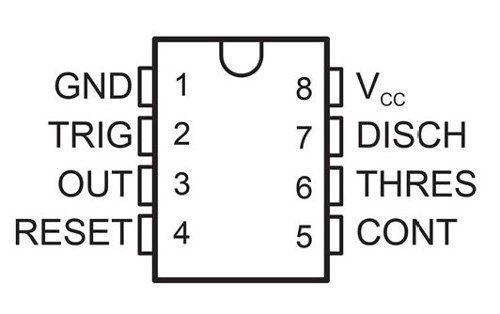 5x CI NE555 555 Temporizador Multivibrador