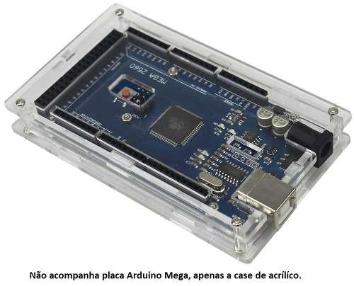 Case para Arduino Mega 2560 Gabinete Box R3 Acrílico Transparente