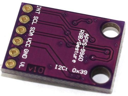 Sensor de Gestos e de Cor RGB Apds-9960 I2C