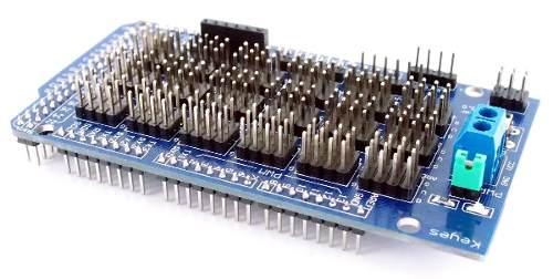 Shield Sensor Mega Placa de Expansão V2 Compatível com Arduino Mega