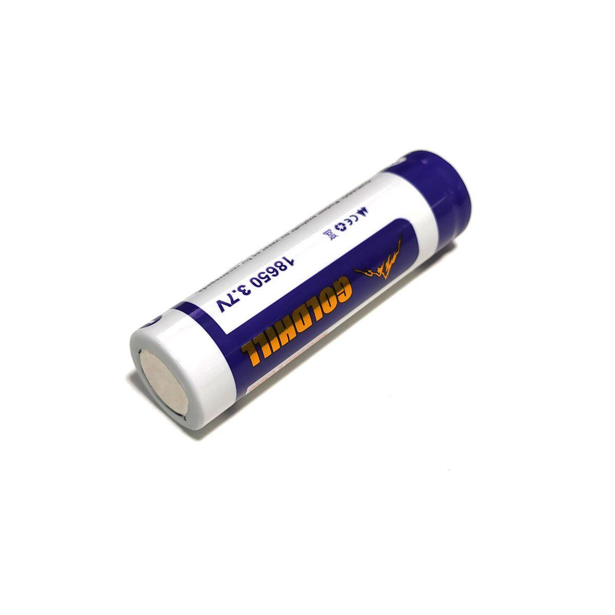 1x Bateria 3,7V 18650 de Lítio Recarregável - GoldHill