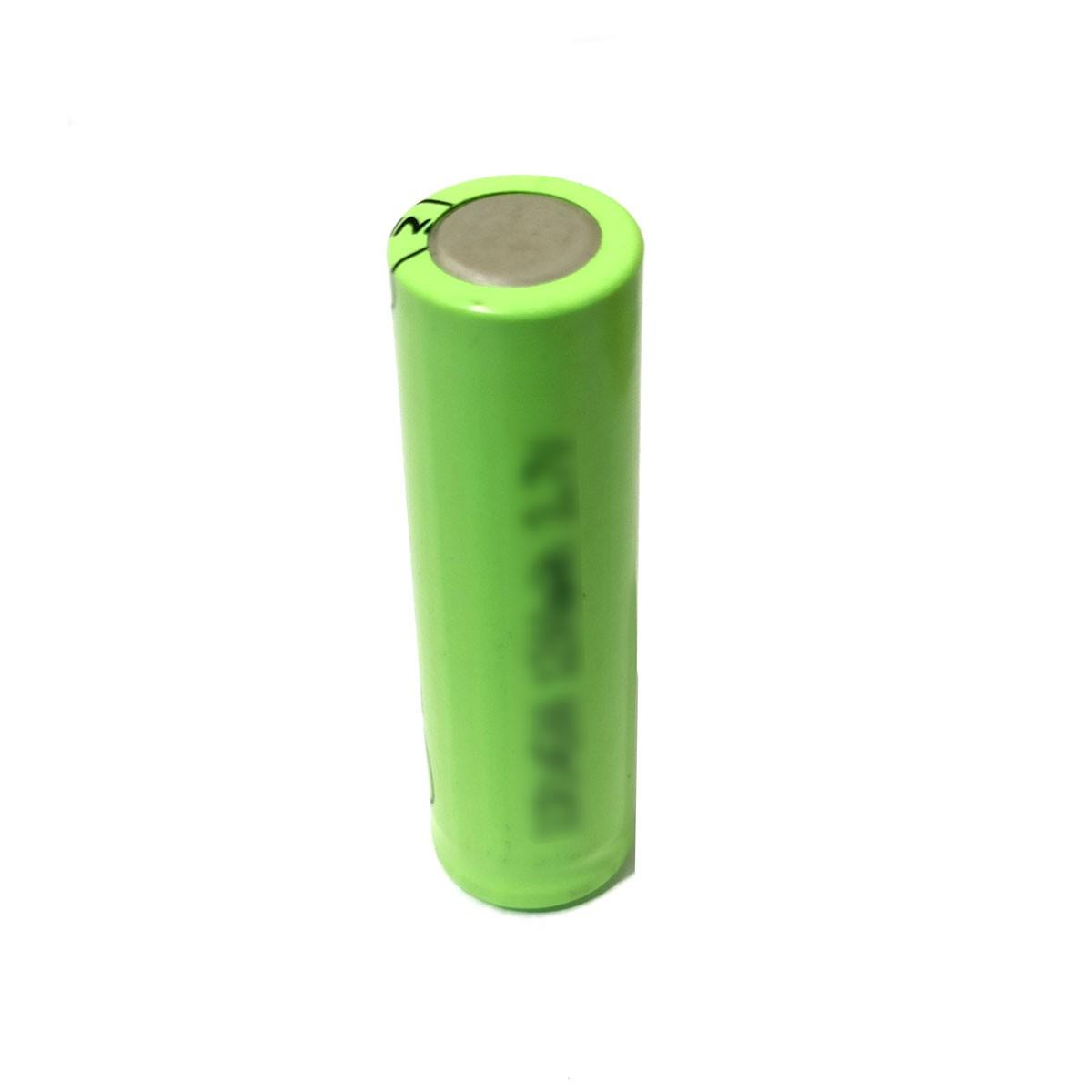 1x Bateria 3,7V ICR 14500 de Lítio Recarregável - 14mm x 50mm