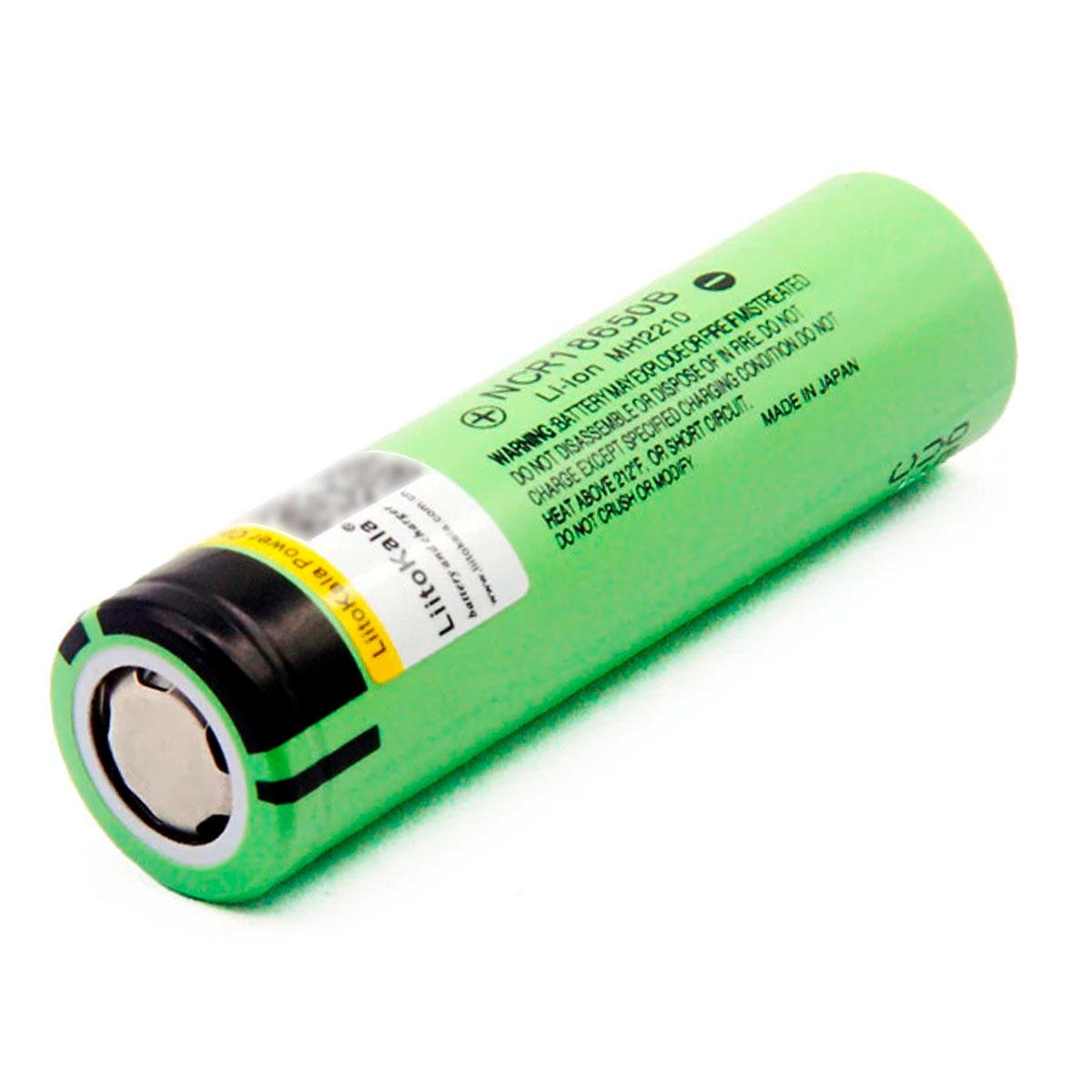 1x Bateria NCR 18650B Original 3,7v 3400mah Lítio Recarregável Lisa - Sem Pino no +
