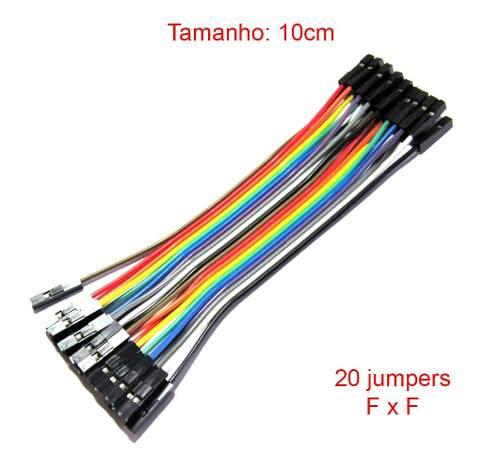 10x Cabo Jumper Fêmea x Fêmea 10 cm de 20 unidade cada - 200 Jumpers no Total