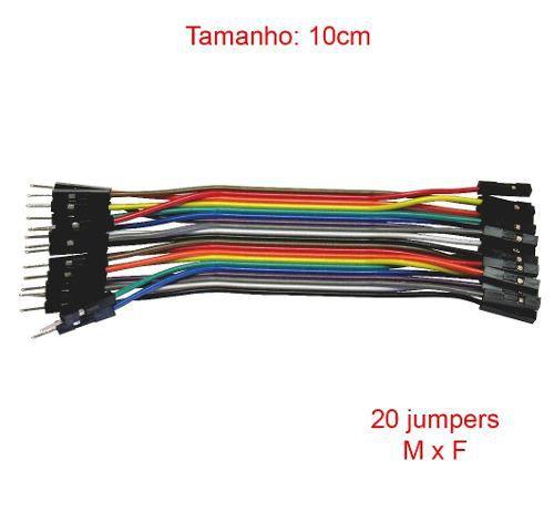 10x Cabo Jumper Macho x Fêmea 10 cm de 20 Unidades cada - 200 Jumpers no Total