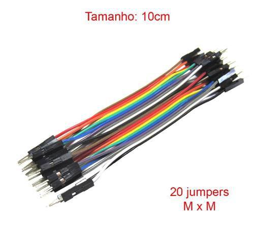 10x Cabo Jumper Macho x Macho 10 cm de 20 unidades cada  - 200 Jumpers no Total