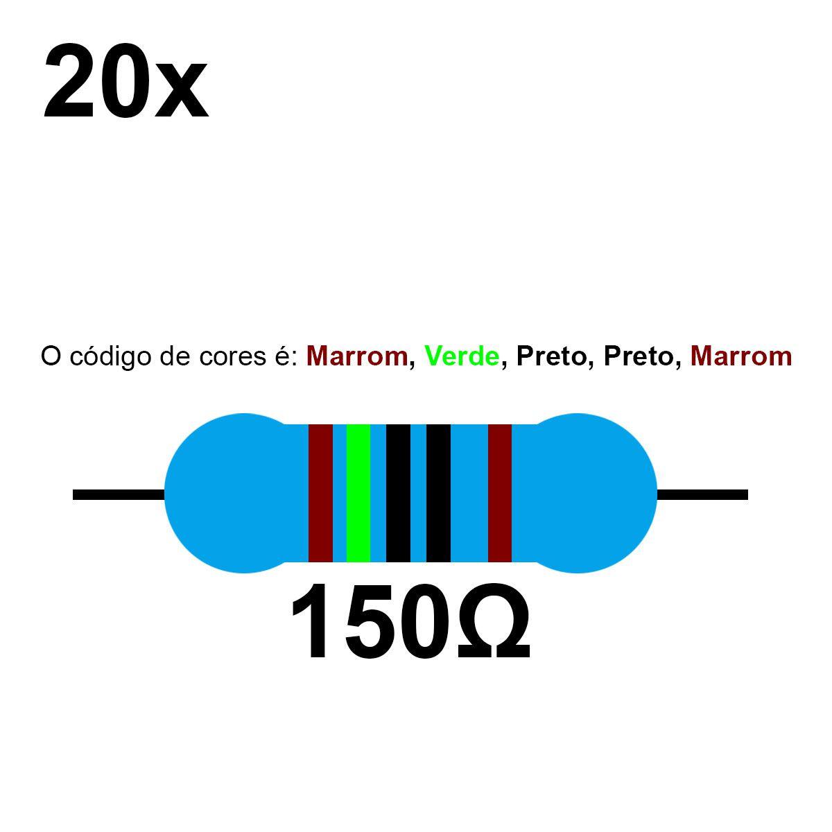 20 Resistor 150 Ohm 1/4w