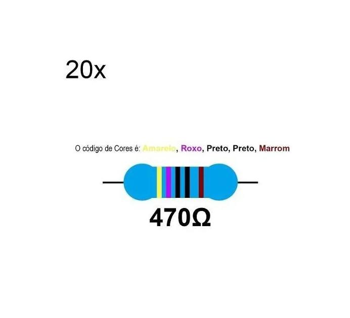 20 Resistor 470 Ohms 1/4 W