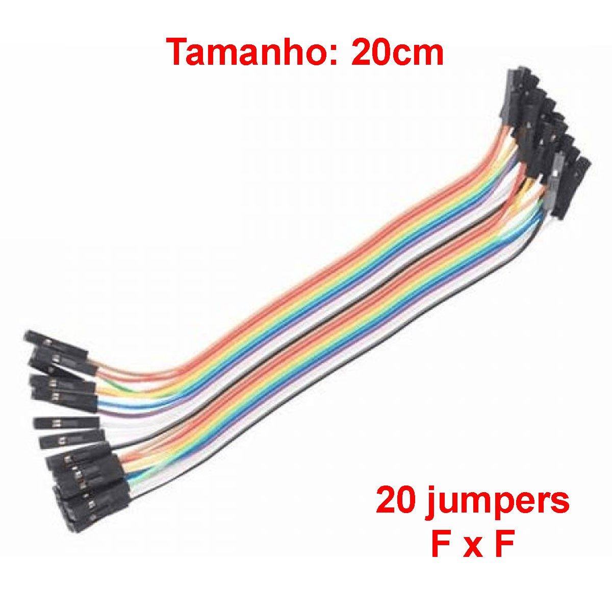 20x Cabo Jumper Fêmea x Fêmea 20 cm