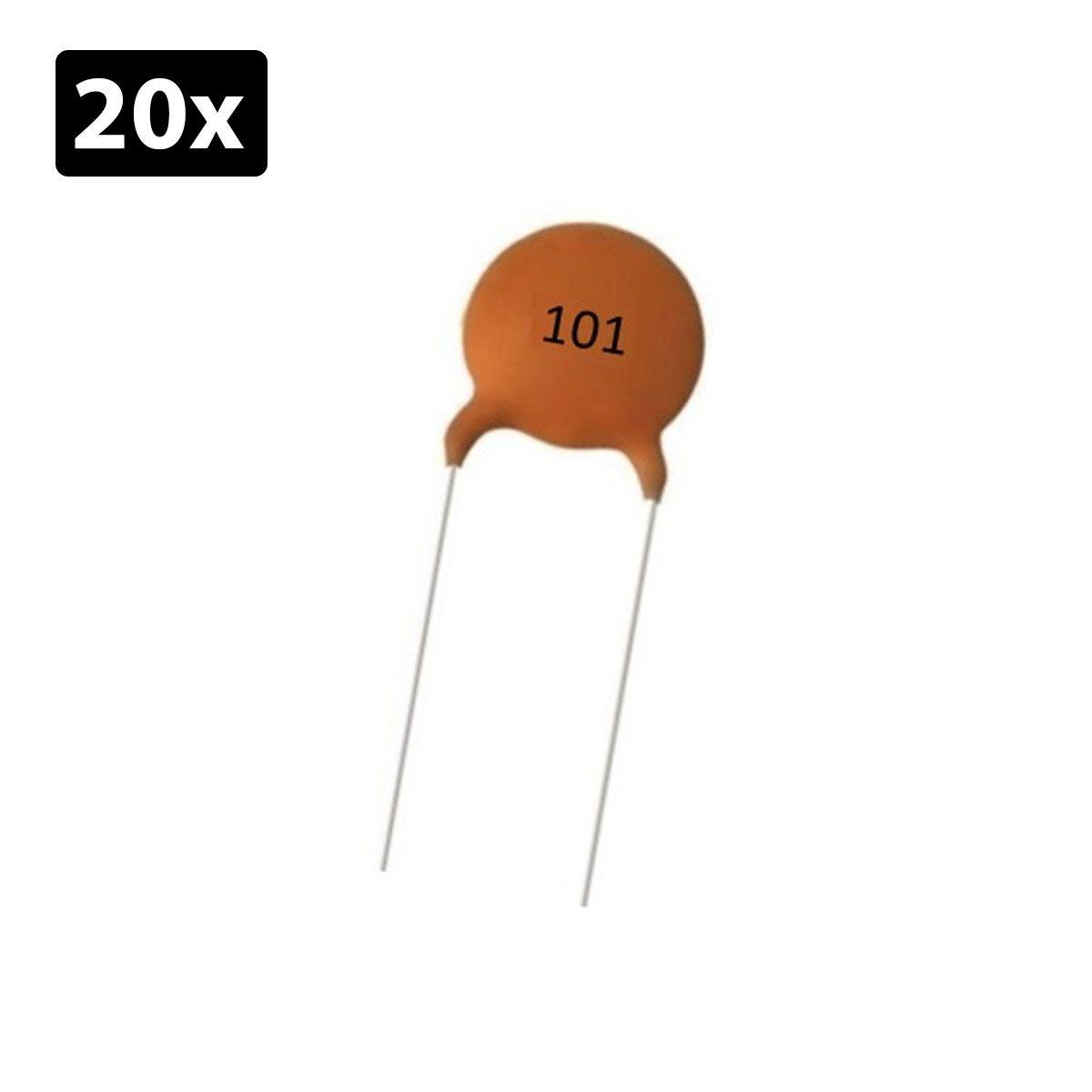 20x Capacitor Cerâmico 100pF 50v (101)
