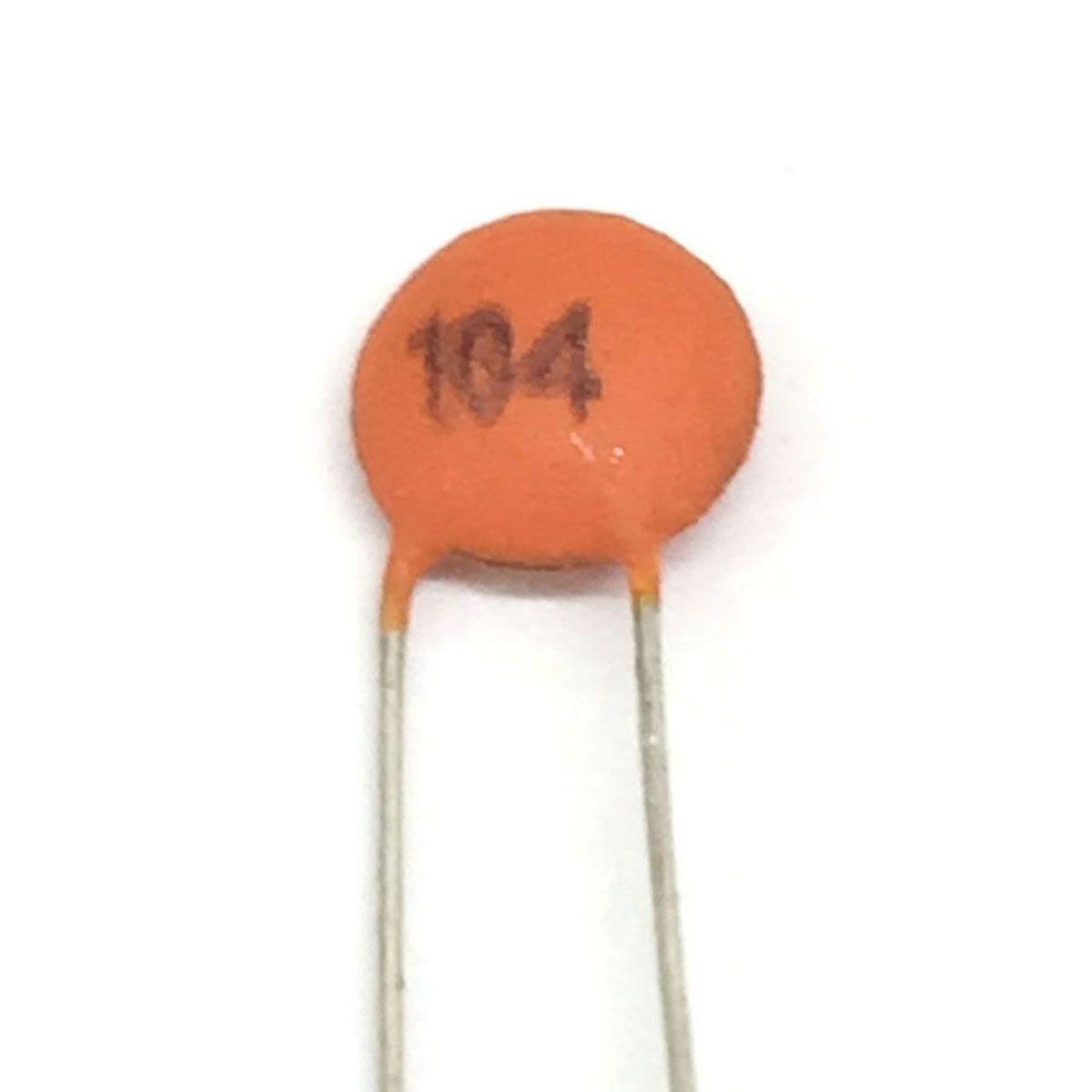 20x Capacitor Cerâmico / Cerâmica 104 100nF 50v (0,1uF/100K/100Kpf/104)