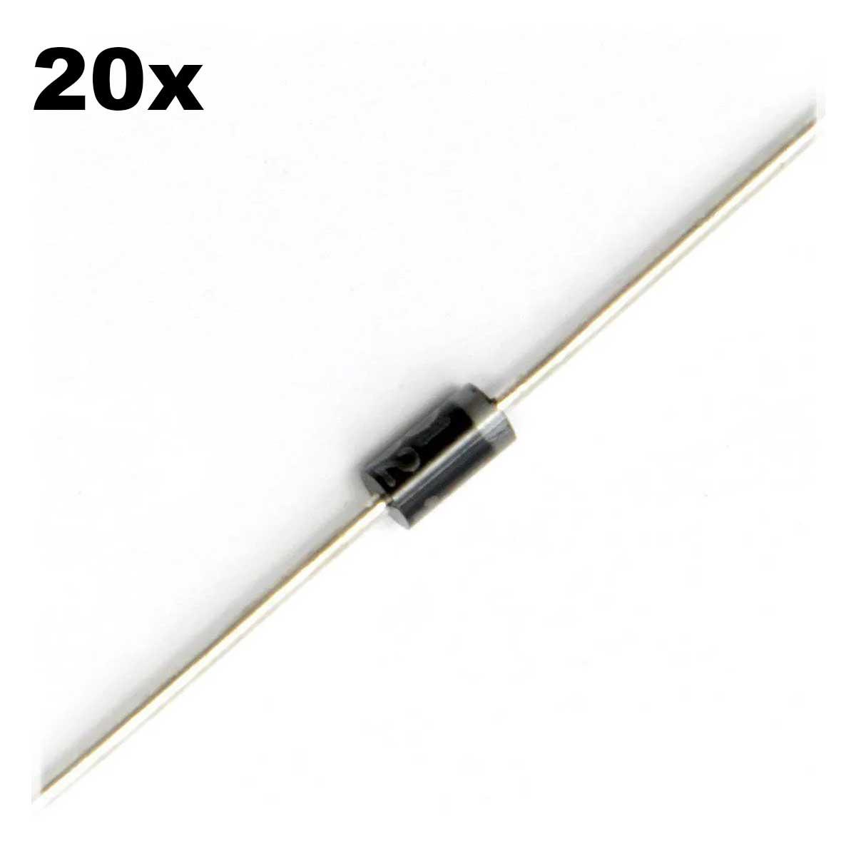 20x Diodo Retificador 1N4007