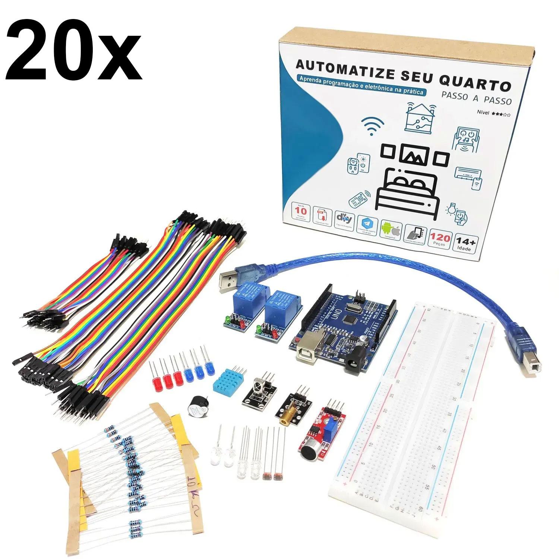 20x Kit Automação Residencial Robótica Com Tutorial Para Arduino - Automatize seu Quarto!