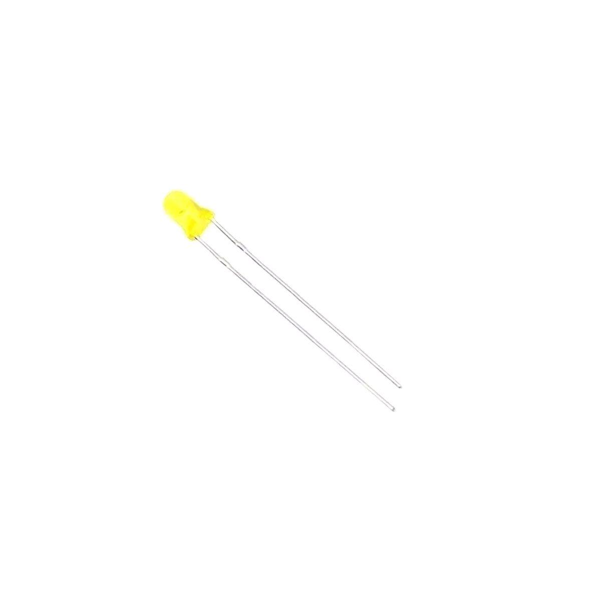 20x Led Colorido Difuso 3mm 4 cor de cada: Azul, Amarelo, Verde, Vermelho e Branco