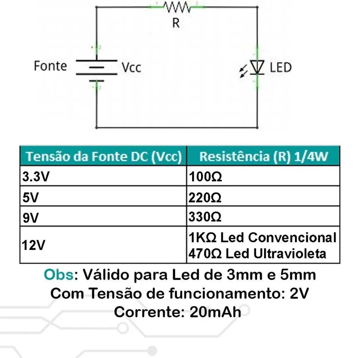 20x Led Flash 5mm RGB Alto Brilho Efeito Rápido 2 Pinos Cor Automática