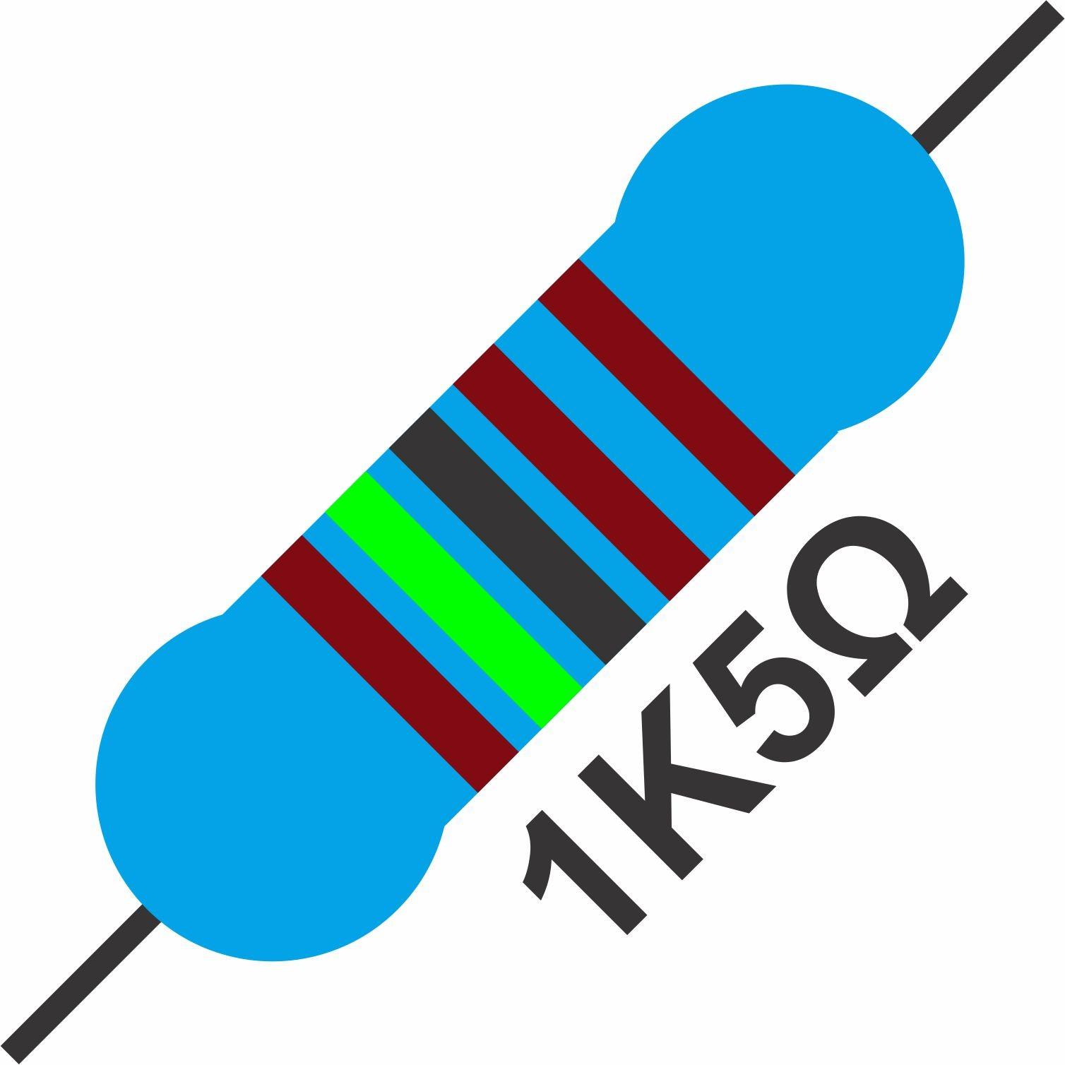 20x Resistor 1K5 1,5K Ohms 1/4 W