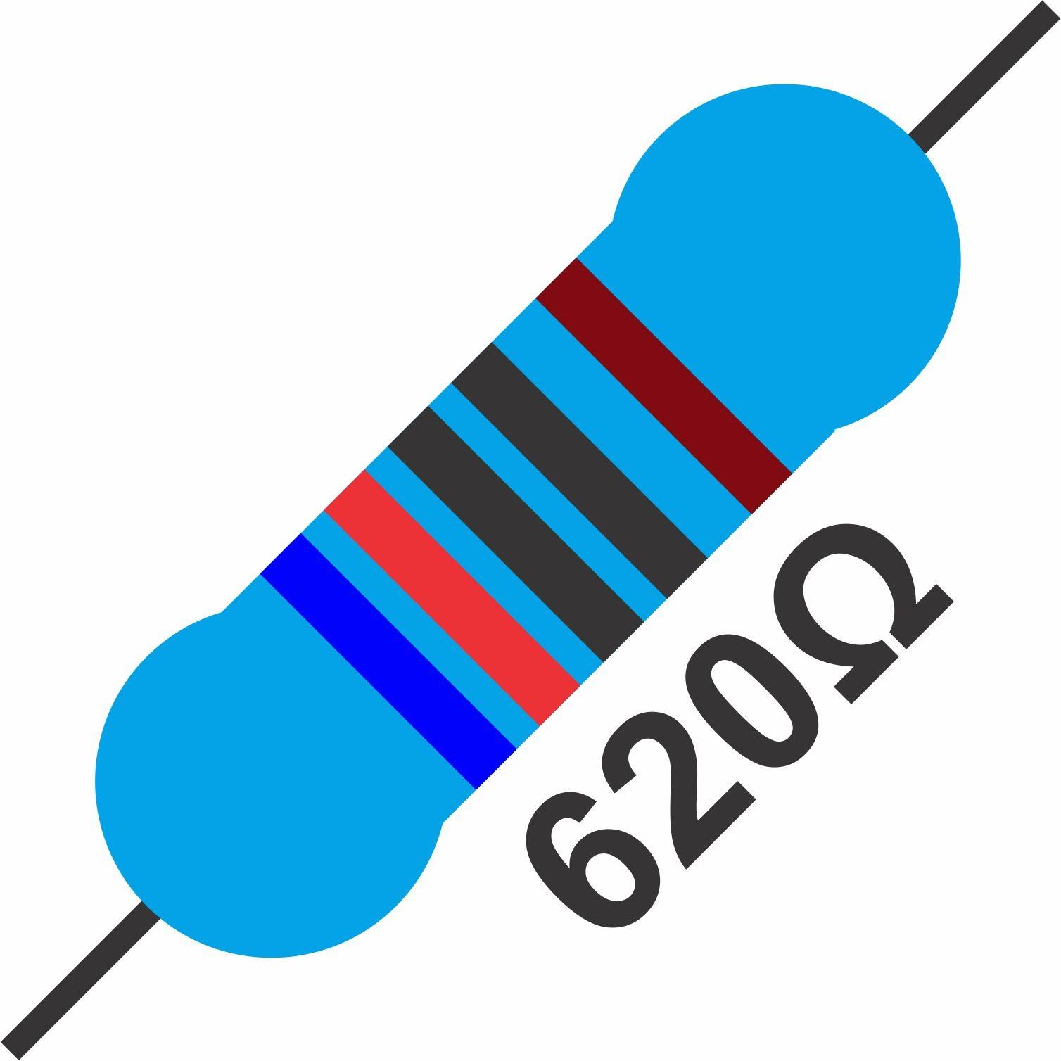 20x Resistor 620 Ohms 1/4 W