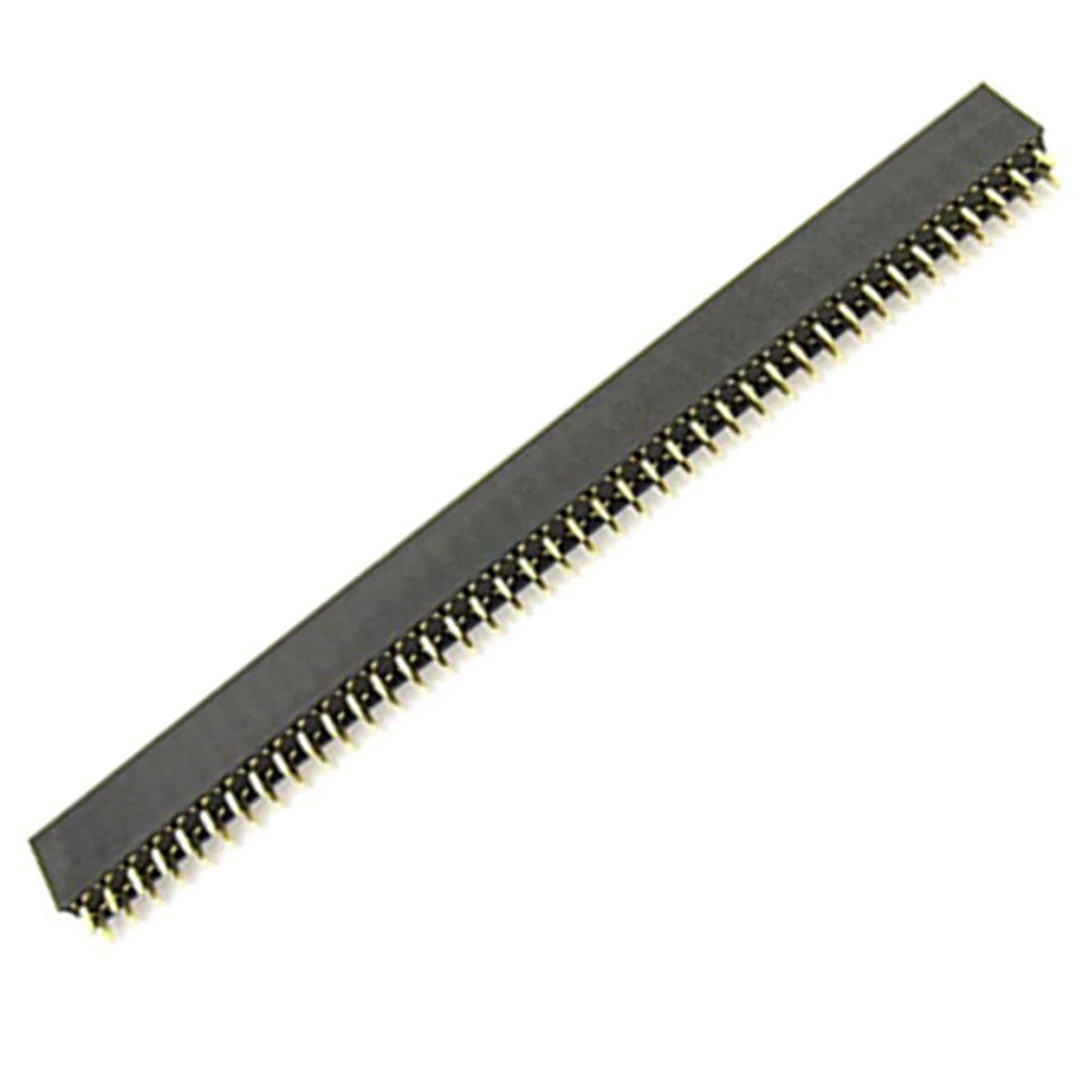 2x Barras / Conector com 40 Pin Head Duplo Fêmea Total de 80 PinHead