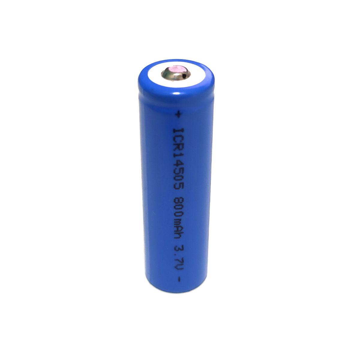 2x Bateria 3,7V 14505 de Lítio Recarregável - Tamanho AA