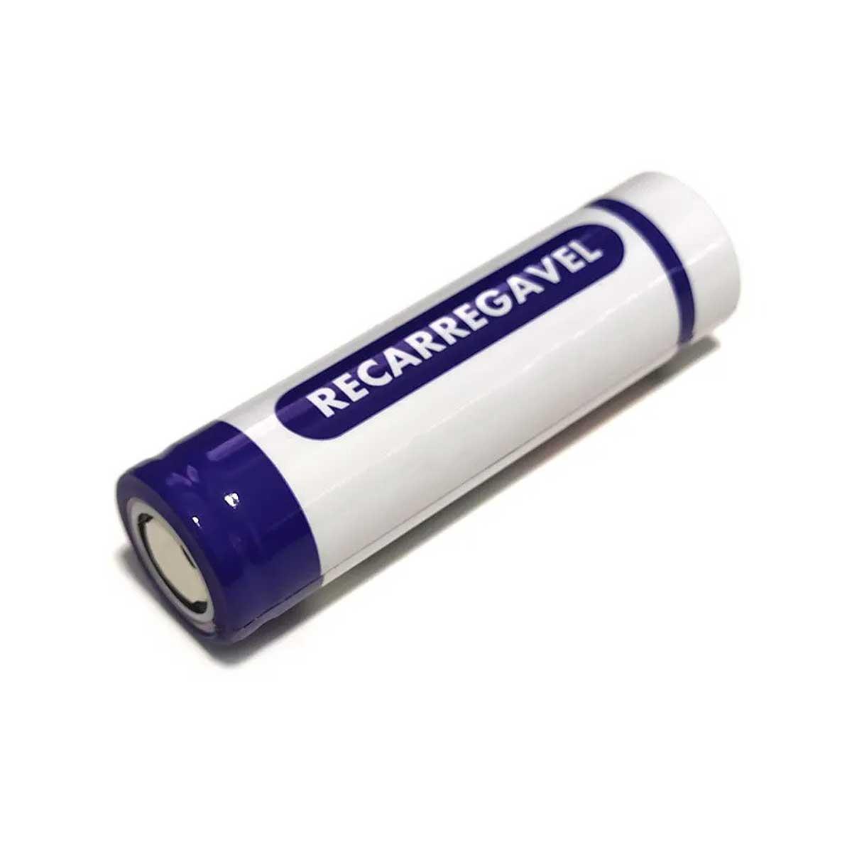2x Bateria 3,7V 18650 de Lítio Recarregável - GoldHill