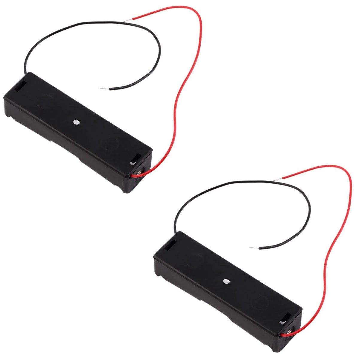 2x Case Suporte / Soquete para 1 Bateria 18650