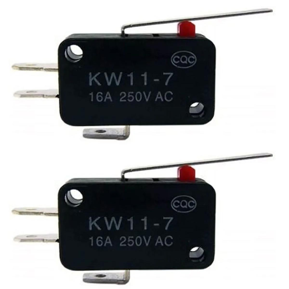 2x Chave Micro Switch KW11-7-3 2T 16A 27mm Fim de Curso