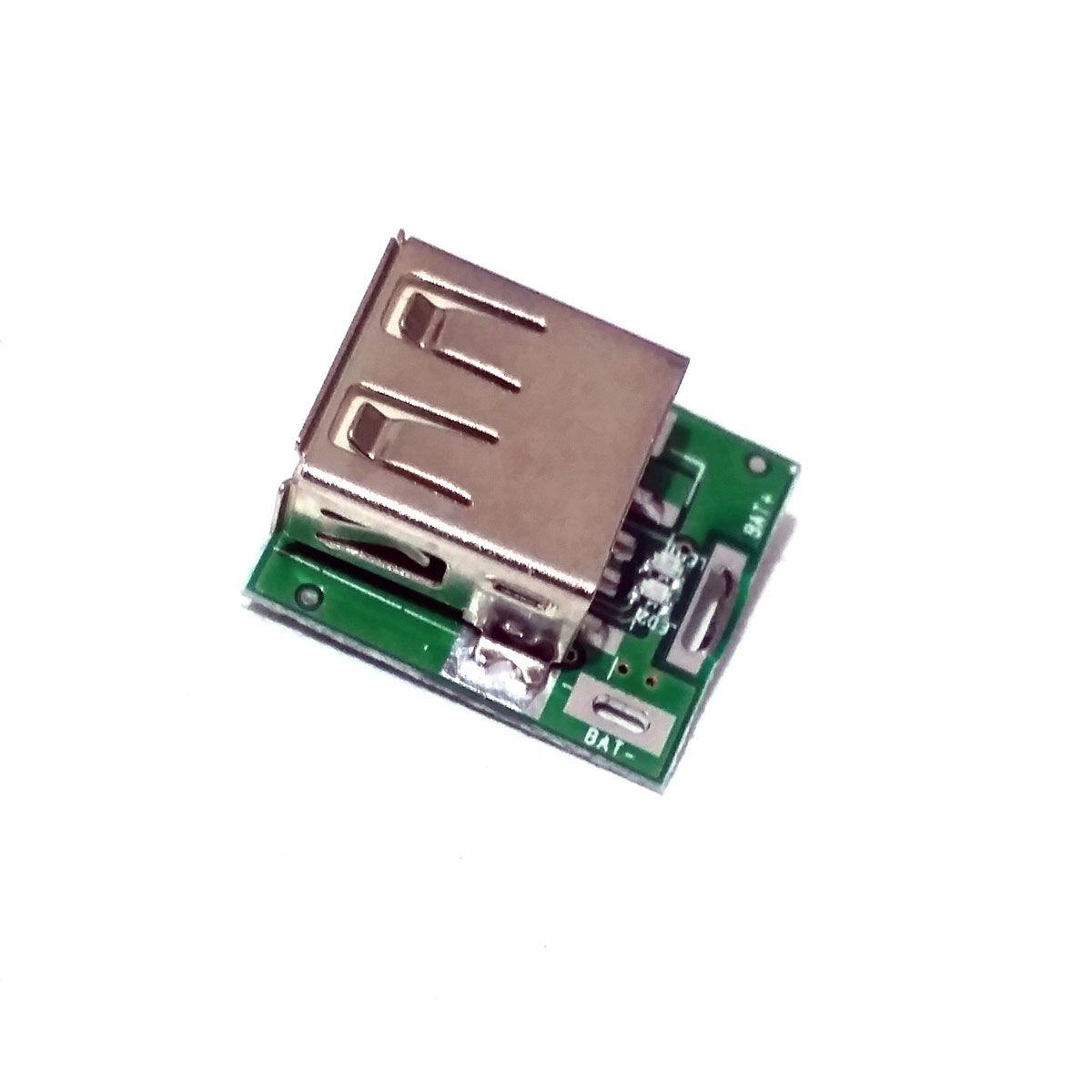 2x Conversor DC DC Step Up USB 5v Bateria de Litium com Carregador Embutido estilo Power Bank